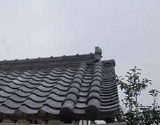 風切りが二本施工された和瓦屋根