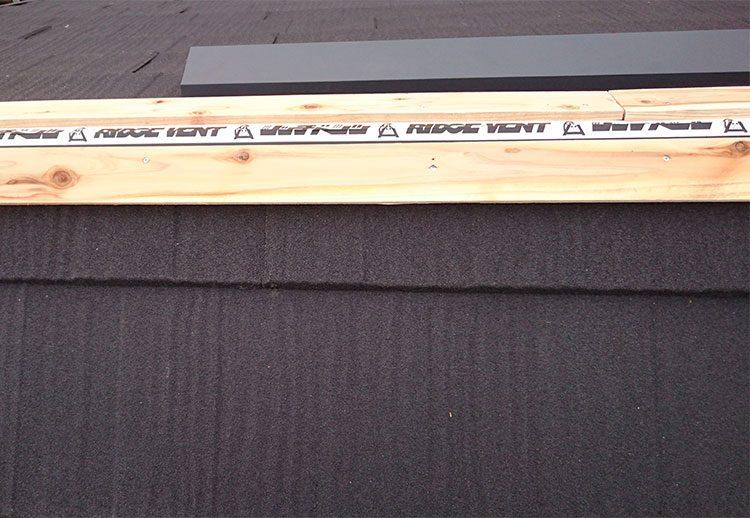 リッジベンツによる換気棟施工