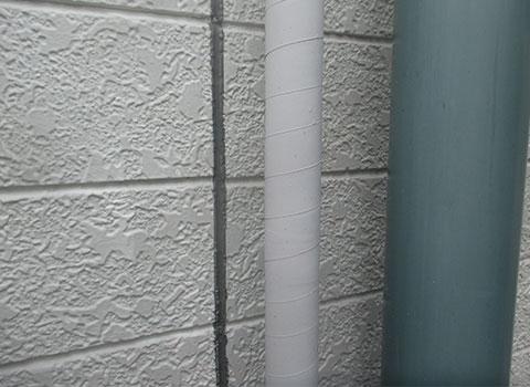 外壁のシールをウレタン材で打ち直し
